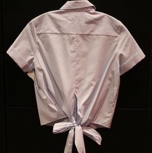 ADORABLE ITALIAN BOW TIE BLOUSE NEW WITH TAGS